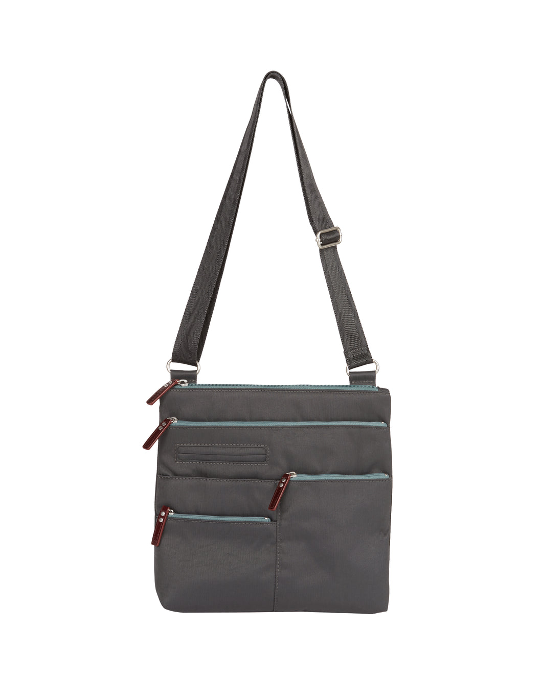 Highway Nico - Small Multi - Pocket Bag / Rock Grey & Azure & Red
