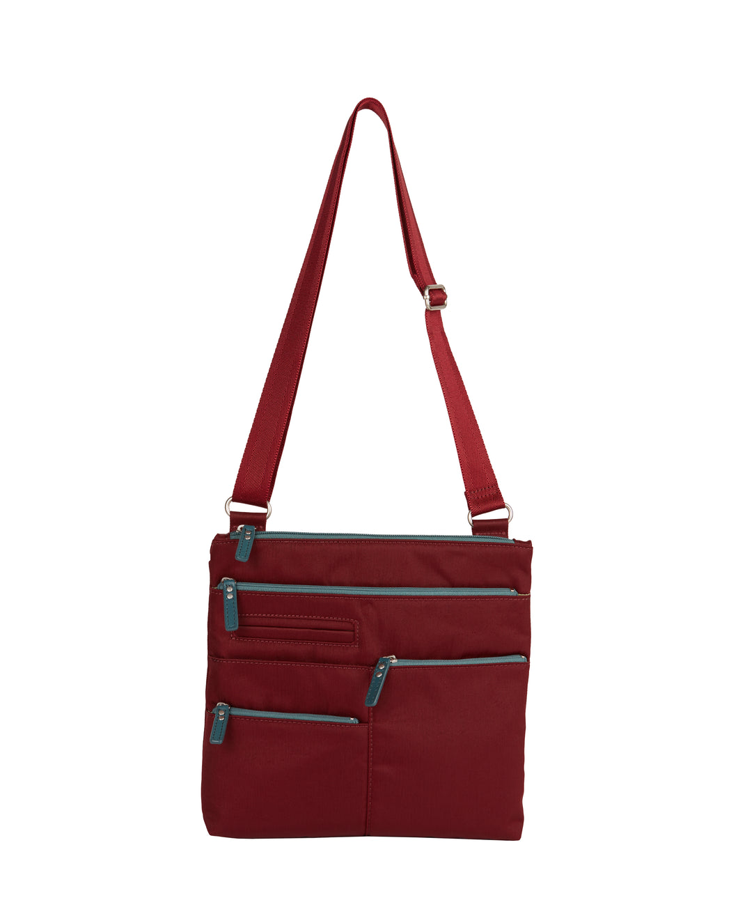 Highway Nico - Small Multi - Pocket Bag / Wine & Azure