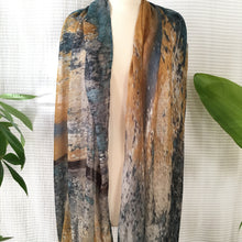 Load image into Gallery viewer, Ochre x Azure Abstract Scarf