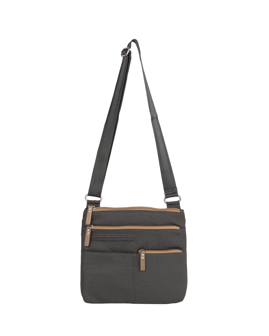 Highway Pete - Mini Multi - Pocket Bag / Rock Grey & Ochre