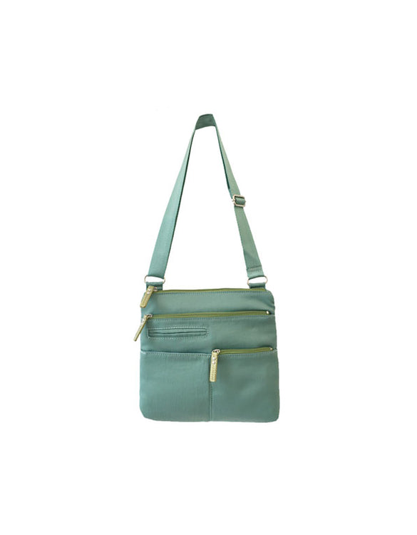 Pete - New Mini Multi-Pocket | Seafoam & Lime