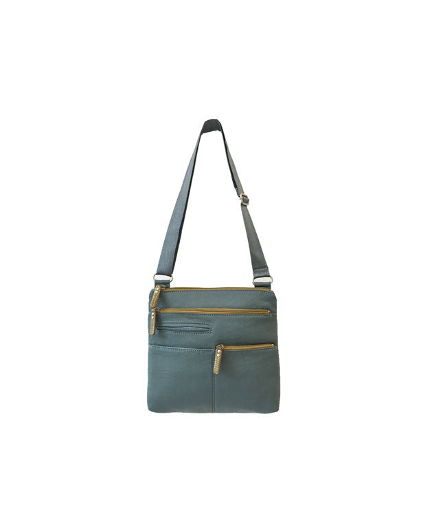 Pete - New Mini Multi-Pocket | Steel Blue & Ochre