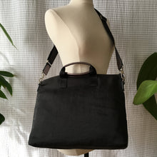 Load image into Gallery viewer, Proto-Bo Nylon x Leather Accent Multi-Pocket Bag | Charcoal x Silver