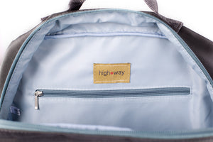 Highway Henry - Full Zipper Backpack | Charcoal