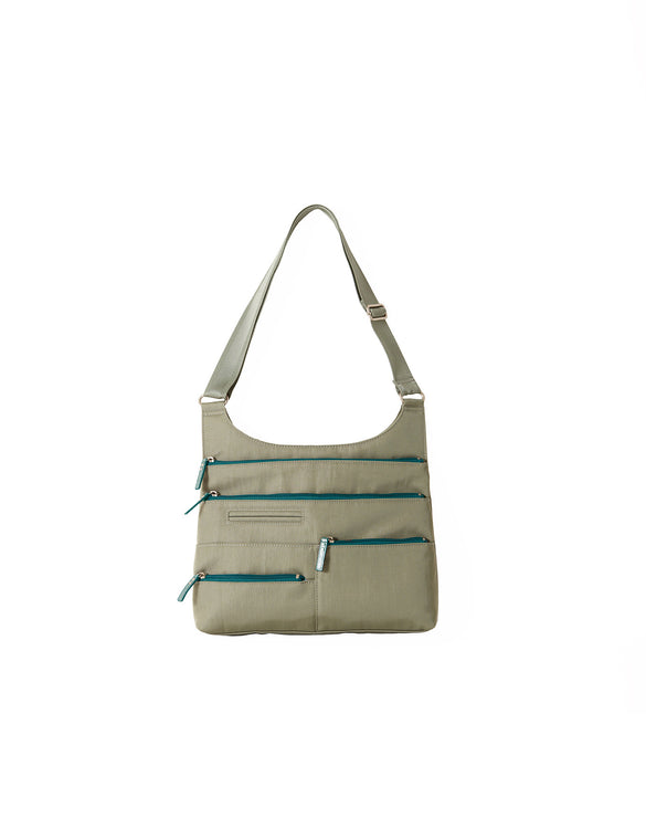 Teela - Medium Multi-Pocket Bag | Fern Green & Azure