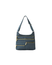 Teela - Medium Multi-Pocket Bag | Indigo & Olive