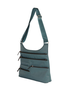 Highway Teela - Medium Multi - Pocket Bag / Atlantic & Black