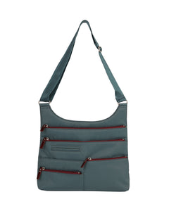 Highway Teela - Medium Multi - Pocket Bag / Atlantic & Dk. Red