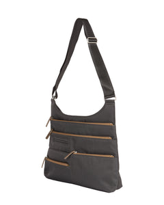 Highway Teela Medium Multi - Pocket Bag / Rock Grey & Ochre