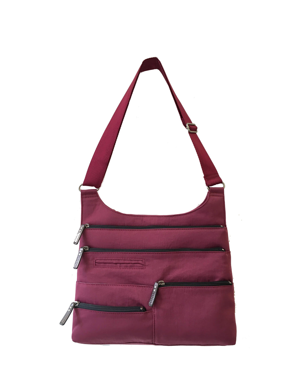 Highway Teela - Medium Multi-Pocket Bag | Cyclamen & Gray