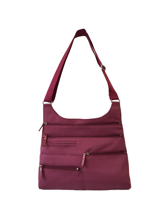 Teela - Medium Multi-Pocket Bag | Cyclamen & Red