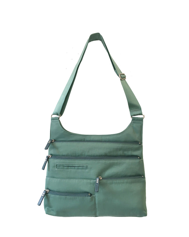 Teela - Medium Multi-Pocket Bag | Seafoam & Azure