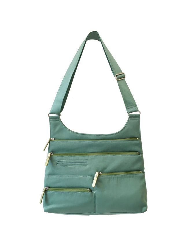 Teela - Medium Multi-Pocket Bag | Seafoam & Lime