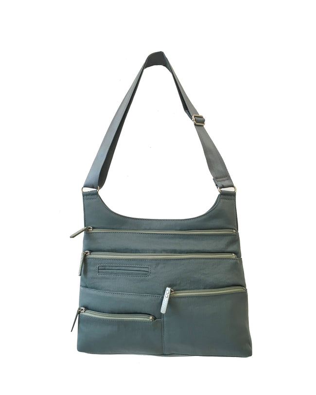 Teela - Medium Multi-Pocket Bag | Steel Blue