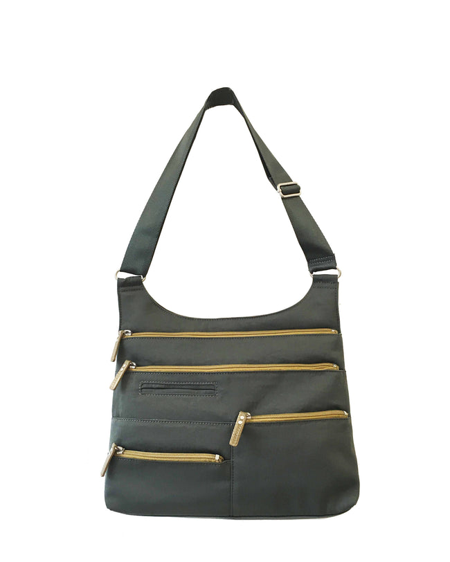 Teela - Medium Multi-Pocket Bag | Kombu & Ochre