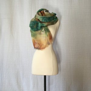 Earth Large Flower Scarf