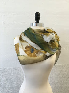 Highway Ochre and Flower Scarf