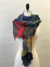 Load image into Gallery viewer, Highway Red and Ochre Abstract Scarf