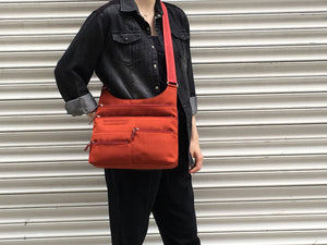 Highway Teela - Medium Multi-Pocket Bag | Persimmon & Red