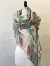 Load image into Gallery viewer, Highway Pink and Gray Flower (S) Scarf
