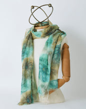 Earth and Small Flower Scarf