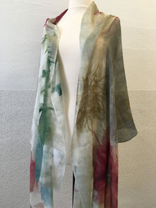 Highway Pink and Gray Flower (L) Scarf