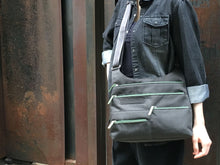 Load image into Gallery viewer, Highway Teela - Medium Multi-Pocket Bag | Charcoal & Green