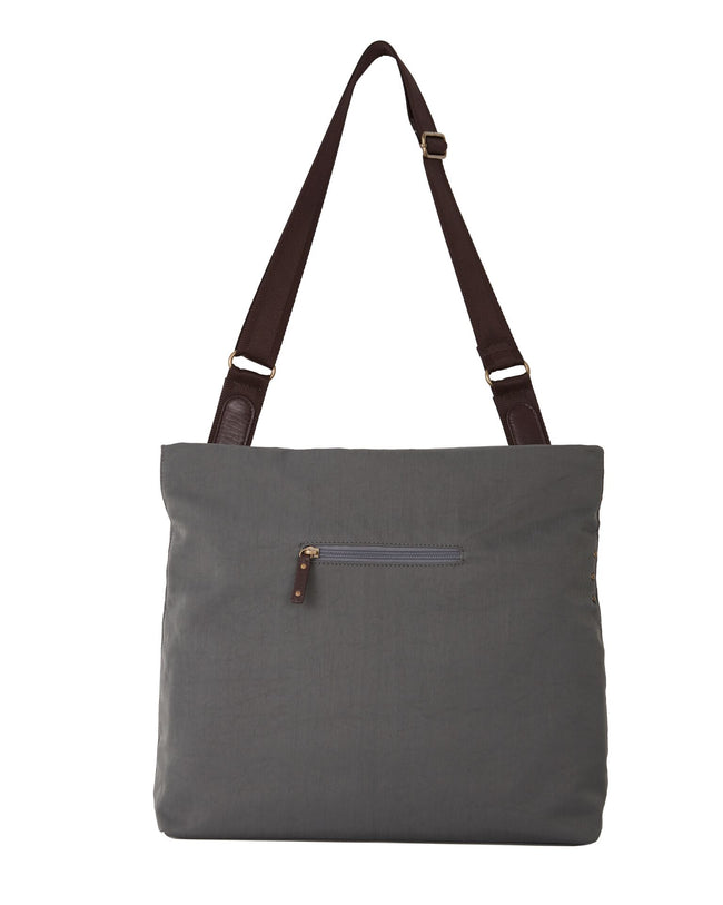 Jaycee - Two-way Messenger Bag | Pewter