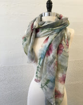 Pink and Gray Flower (S) Scarf