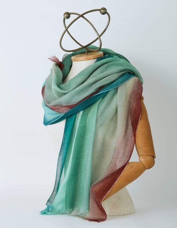 Three Colors Stripe Scarf