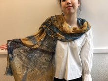 Load image into Gallery viewer, Highway Ochre and Gray Abstract Scarf