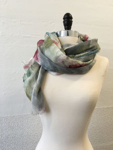 Highway Pink and Gray Flower (S) Scarf
