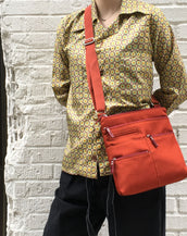 Nico - Small Multi-Pocket | Persimmon & Red