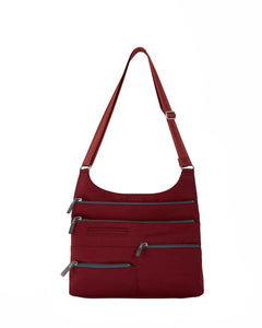 Highway Teela - Medium Multi-Pocket Bag | Red & Dk. Gray