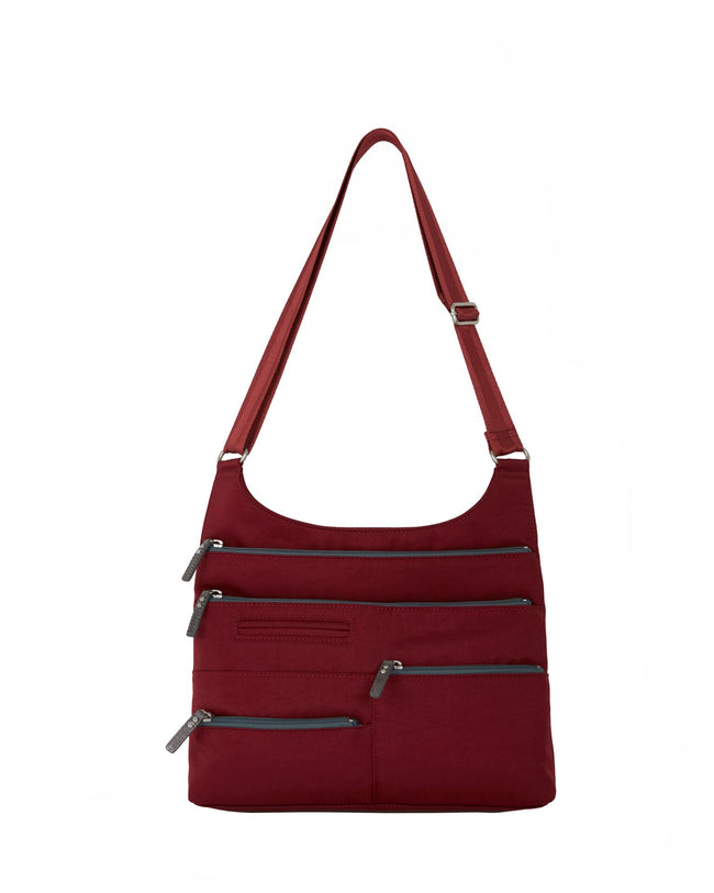 Teela - Medium Multi-Pocket Bag | Red & Dk. Gray