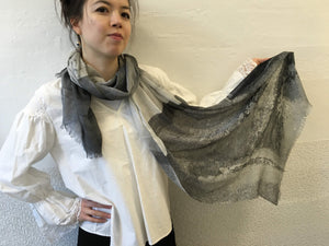 Highway Black and White Abstract Scarf
