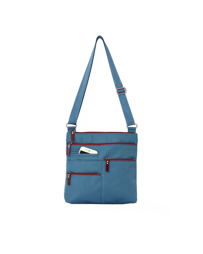 Nico - Small Multi-Pocket | Blue Jay & Red