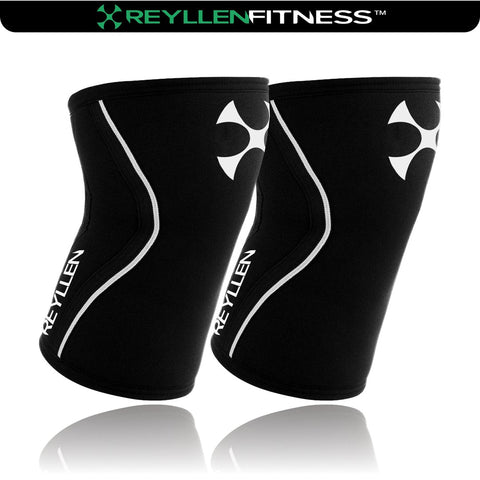 COPPIA GINOCCHIERE 7MM KNEE SLEEVES NERE - nevernorep