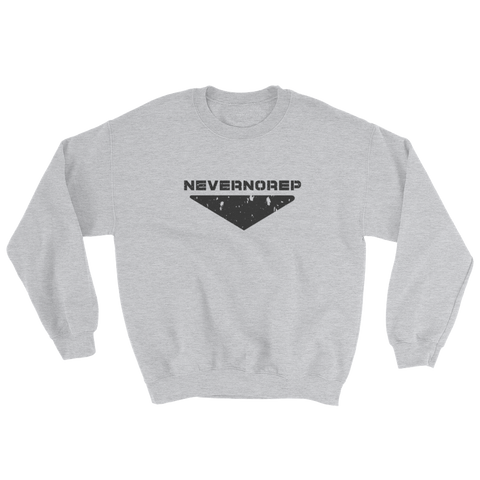 CENTRE SWEAT GREY - nevernorep