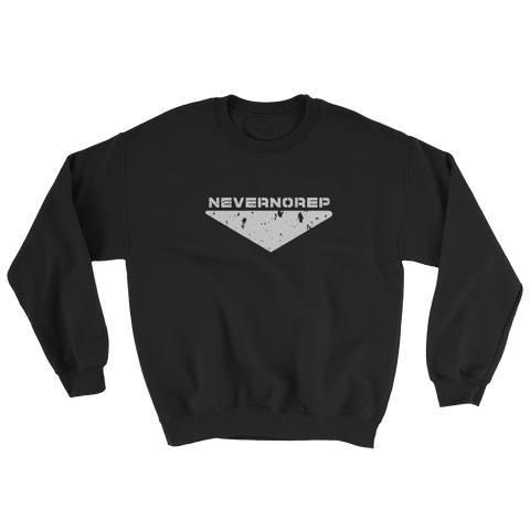 CENTRE SWEAT BLACK - nevernorep