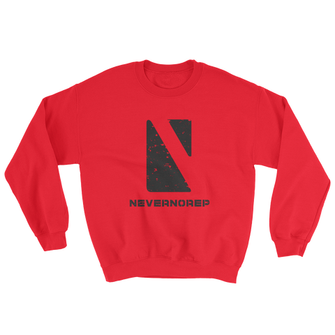 GEOMETRIC SWEAT W RED - nevernorep