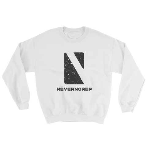 GEOMETRIC SWEAT WHITE - nevernorep