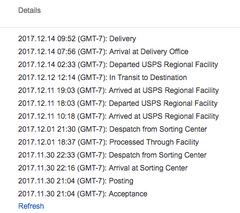USPS shipping example
