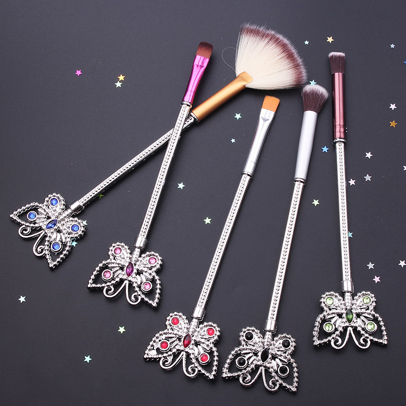 Crystal Butterfly Brush Set, Makeup Tools - Bijou Blossoms