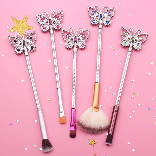 Crystal Butterfly Brush Set