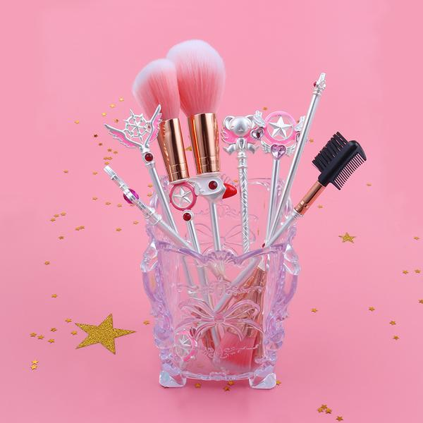 Cardcaptor Sakura Magical Girl Brush Set - Silver, Makeup Tools - Bijou Blossoms
