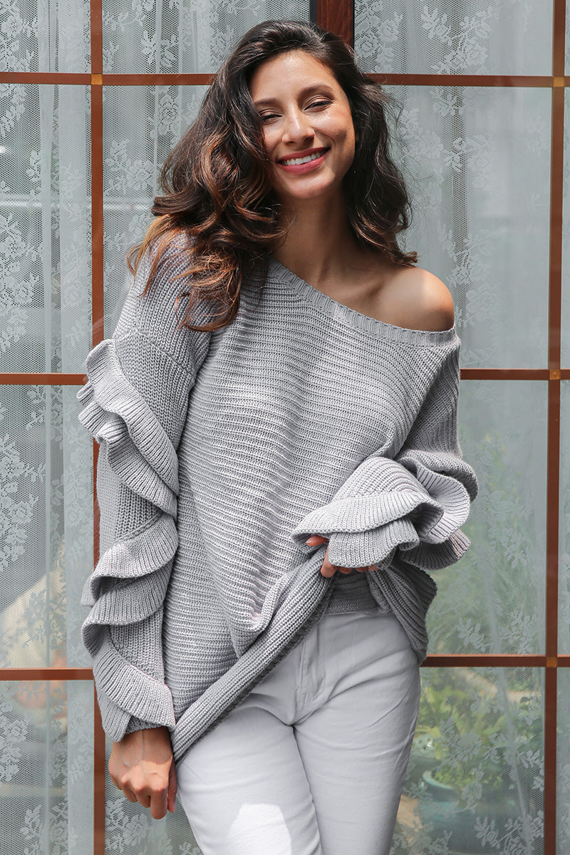Emily Ruffled Sweater