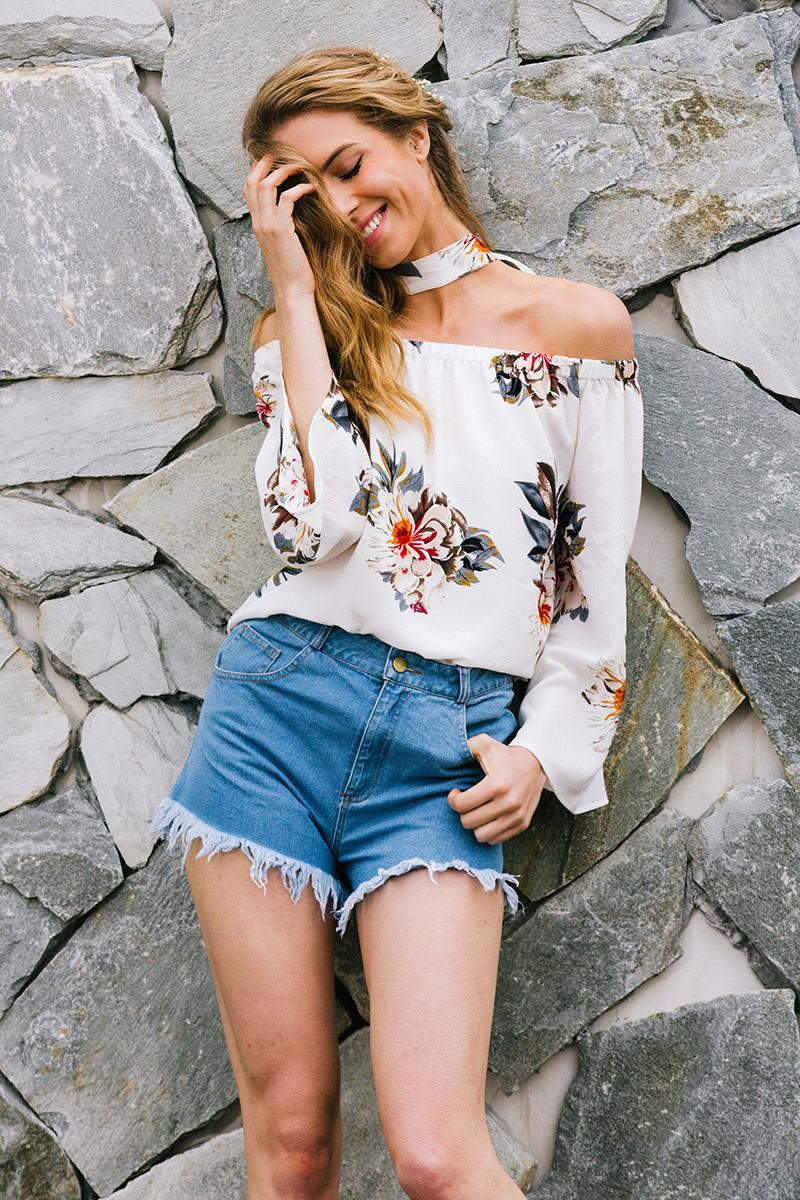 Karla Floral Blouse | Bohemian Clothing Boutique | Bijou Blossoms