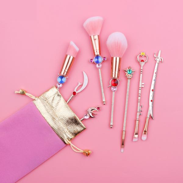 Sailor Moon Outer Senshi Brush Set | Kawaii Anime Beauty Tools | Bijou Blossoms