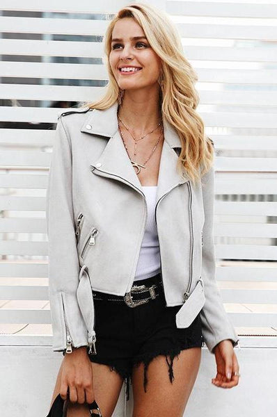 Pomona Moto Faux Leather Jacket | Bohemian Fashion Boutique | Bijou Blossoms